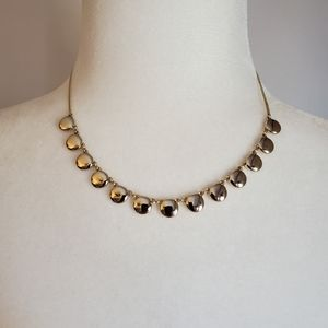 EXPRESS NWT Gold disc necklace